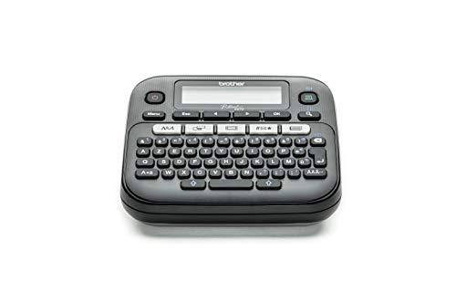 Brother PT-D210 Etiqueteuse bureautique compacte| large choix de symboles | livrée avec 1 ruban TZe Noir/blanc 12mm