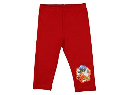 Kleines Kleid Mädchen Leggings Dreiviertel Hose Miraculous Lady-Bug und Cat Noire aus Baumwolle, Kollektion 2019 in Rot, Grau oder Schwarz in GRÖSSE 116, 122, 128, 134, 140 Farbe Rot, Größe 122 (Kleidung Puzzle-stück)