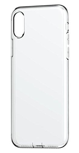CoverBasics Procam Handyschutzhülle für Apple iPhone X / iPhone 10, aus weichem TPU-Kunststoff, transparent nur 0,33 mm Stärke, unsichtbar, mit Schutzkante für Kamera und Staubschutz