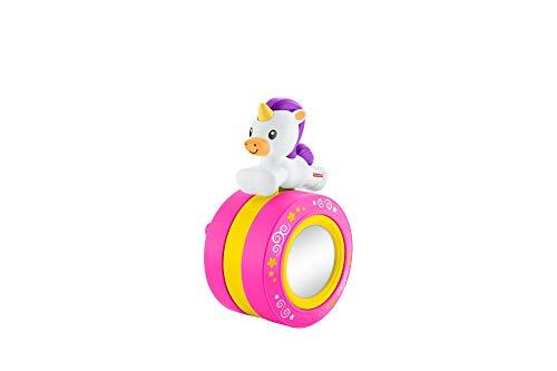 Fisher-Price FYL46 - Krabbel mit mir Einhorn Rolle inkl. Spiegel, mit Melodien und Geräuschen, Krabbel Spielzeug ab 6 Monaten
