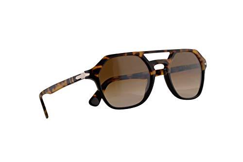 Persol 3206-S Sonnenbrille Schwarz Braunem Mit Braunem Verlaufsglas Gläsern 51mm 108851 PO 3206S PO3206S PO3206-S