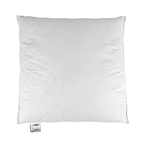 Homescapes - New White Goose Feather and Down - Cushion Pad Inner Insert / Continental Square Pillow - 26 x 26