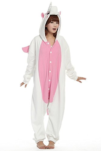 Erwachsene Unicorn Cartoon Tier Kostüme Cosplay Pyjamas (S, Rosa-Flügel) (Tween Tier Kostüme)