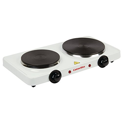 Caterlite Electric Countertop Boiling Rings Double 67X460X270mm Kitchen