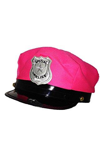 Marco Porta Polizeimütze pink verstellbar Polizistin Kostüm Outfit Zubehör Karneval Halloween JGA Junggesellinnenabschied