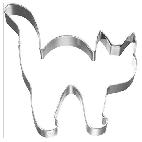 Birkmann 1010707710 Ausstechform Halloween Katze 8 cm, Kunststoff, Grau, 5 x 3 x 2 cm