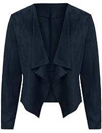 Jacke Damen Herbst Cardigan Anzug Heißer Damen Langarm Dünne Leder Arbeit  Büro Mantel Fashion Lässig Outwear a29d6fa7f0
