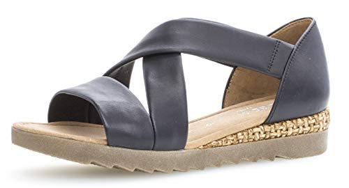 Gabor 22.711 Damen Sandalen,Riemchensandale, Frauen,Sandalette,Sommerschuh,flach,Comfort-Mehrweite,Navy (Grata/Ambra),7 UK (Sandalen Gladiator Flatform)
