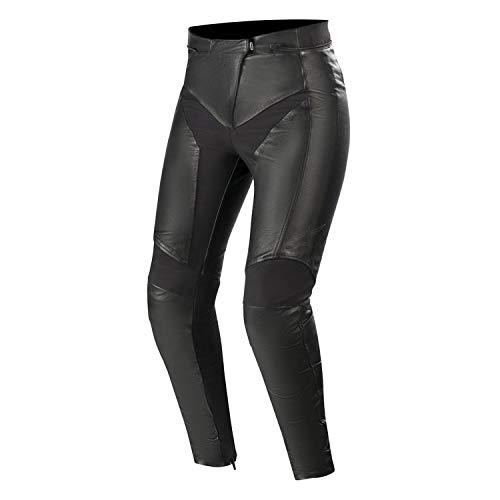 Alpinestars Motorradhose Vika V2 Womens Leather Pants Black, Schwarz, 38