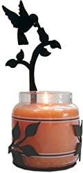 Village Wrought Iron C-ljs-18 Hummingbird Large Jar Sconce