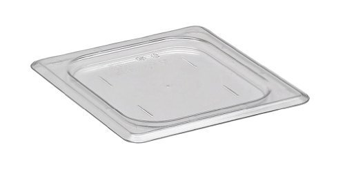 Cambro 60CWC-135 Camwear Polycarbonate Food Pan Flat Cover, Size 1/6, Clear by food service warehouse Camwear Food Pan Cover