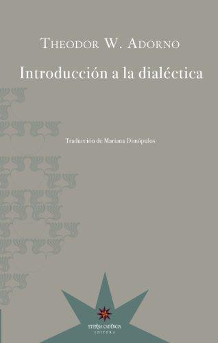 Introducción a la dialéctica por Theodor W. Adorno