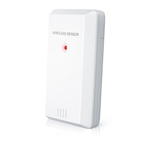Brandson-Wetterstation-Sensor (Wireless) | Wireless Außensensor | passend zur Brandson - Funkwetterstation inkl. Hygrometer / Barometer / Wecker / Wetterprognose | kabellos | weiß