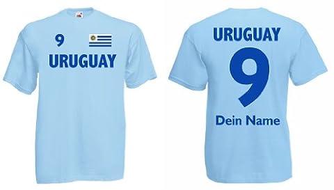 Uruguay Trikot mit Wunschname und Wunschnummer von S - 3XL|hb-xl