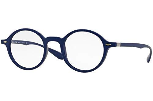 Ray-Ban unisex-adult RX7069 Brillen 46-22-145 5439 RX 7069 Matt Blau groß