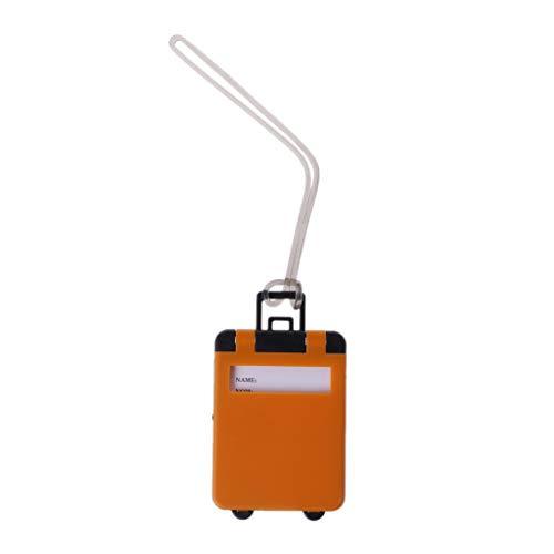 Cansenty - Etiquetas de identificación para maleta (ABS) naranja