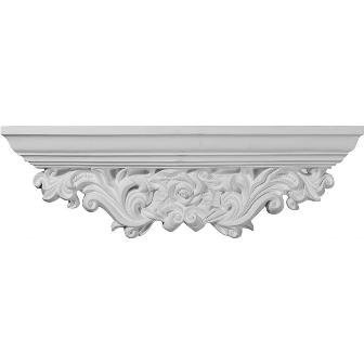 Acanthus 7.13 H x 23.25 W x 3.88 D Leaf Shelf by Ekena Millwork -