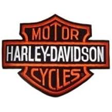 Red Parche Harley Davidson Logo B & S, Tamaño Pequeño, 8 x 6 x Chaquetas y Chaleco