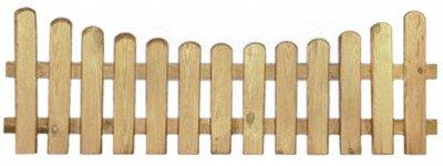 20% Rabatt auf ALLES!!! StaketenZaun 'Premium' 180x60/46cm - unten - kdi / V2A Edelstahl Schrauben verschraubt - aus getrocknetem Holz glatt gehobelt - nach unten gebogene Ausführung