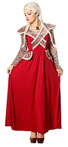 Kostüm Für Prinzessin Renaissance Erwachsene - Karneval-Klamotten Burgfräulein Kostüm-e Damen Hofdame Renaissance Prinzessin Mittelalter Damenkostüm rot Größe 48