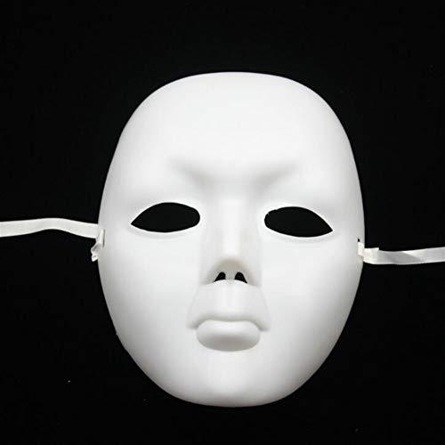 Redyiger Nützliche Gegenstände Maskuline Vollgesichtsmaske Halloween Blank Malerei -