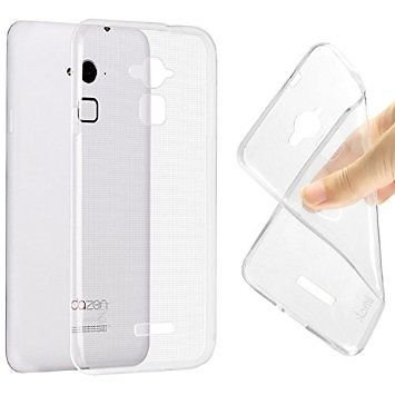 """Combo Pack of 2.5D Curved Edges Tempered Glass + Transparent Soft TPU Back Case Cover For Coolpad Note 3 Lite 5"""" inch"""