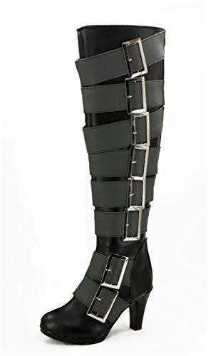 Cosstars Black Butler Kuroshitsuji Undertaker Anime Cosplay Schuhe Stiefeletten Stiefel