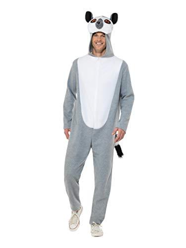 Lemur Für Kostüm Erwachsene - Smiffys 47204L Lemur Kostüm Herren