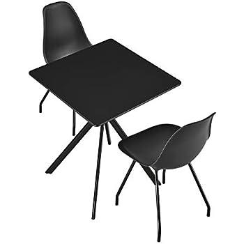 [en.casa] Esstisch mit 2 Stühle - 60x60x75cm Küchentisch