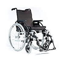 """Superior Lightweight Breezy BasiX Wheelchair with Adjustable Features - 17"""" Seat Width"""