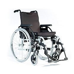"Superior Lightweight Breezy BasiX Wheelchair with Adjustable Features - 17"" Seat Width"