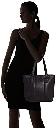 Ctm 34x30x11cm Borsa Nero Made 100 Elegante Donna In nero Pelle Classica Italy Vera rrBI4