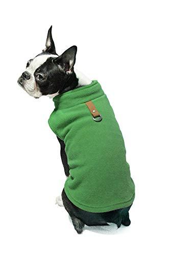 Ducomi PolarDog Weste aus weichem, warm, Fleece, für kleine und mittelgroße Hunde, für den Winter, leicht zu tragen (Leichtes Salz Kostüm)