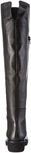 BPrivate - H0404x, Stivali sopra il ginocchio con imbottitura leggera Donna Nero (Nero (Nero))