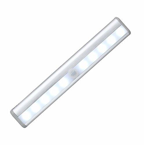 LIQIANYING 10LED luce del corridoio / armadio / armadi luce della luce di notte Corpo sensore infrarossi senza fili della batteria lampada alimentata (non includere batteria)