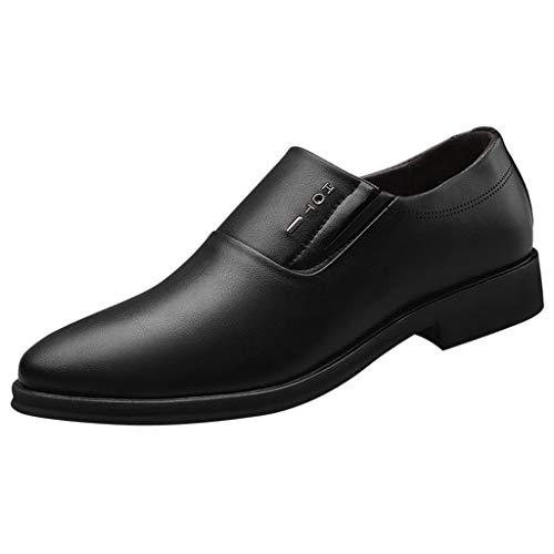 EU39-EU44 2019 ODRD Lederschuhe Männer Schuhe Herren Shoes Mode Casual Spitz Oxford Leder Hochzeitsschuhe Business-Schuhe Worker Combat Hallenschuhe Heirat Arbeit Geschäft (Männliche Pop Art Kostüm)