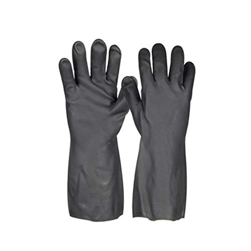 JKMQA Anti-Chemikalien-Handschuhe aus Neopren Anti-Korrosions-Säure und alkalibeständige Industriehandschuhe Tragen und ölbeständige Chemikalien