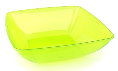 MOZAIK Green Anis Square Plastic Salad Serving Bowl 28cm (3.5