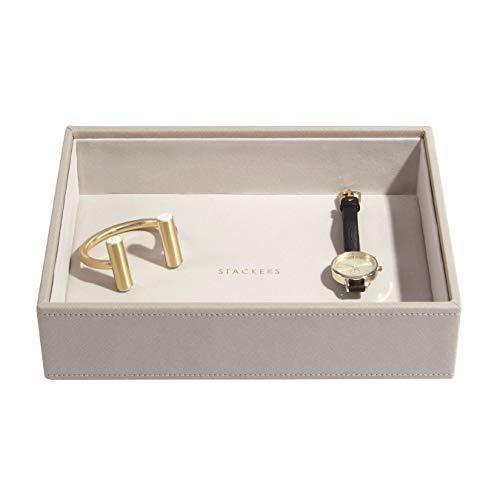 Stackers Coffre /à bijoux taupe classique avec fermoir champagne dor/é.