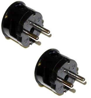 2 x Self Draht Europäischen Schuko-Stecker Steckdose Stecker Plug Germany, Frankreich etc. (Draht-ac-steckdose)