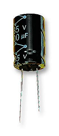 Electrolytic Capacitor, MCGLR Series, 47 µF, ± 20%, 25 V, 6.3 mm, Radial Leaded