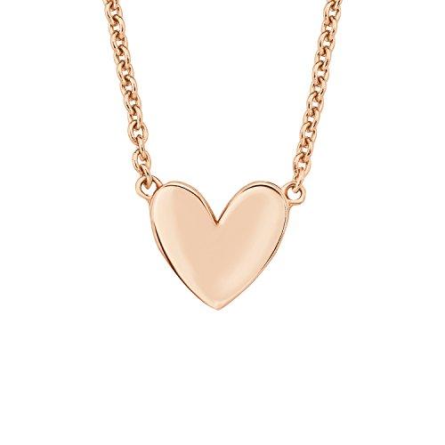 s.Oliver Damen-Kette 45 cm So Pure mit Herz-Anhänger 925 Sterling Silber rosévergoldet