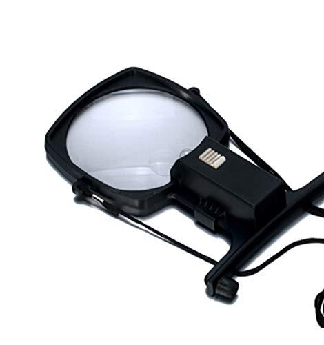 Xhh Hängende helle Lupe, 1 LED-Licht Acryllinse ABS-Schale, Geeignet für ältere Kinder und Jugendliche Lesen von Büchern, Lesen von Zeitungen, Feldbeobachtung - 8.43 Licht