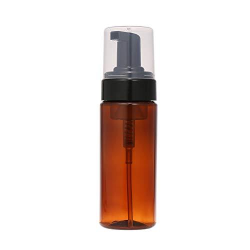 Anself 150ml Schaum Flasche Leere Bernstein Kunststoff Seife Mousses Flüssigkeitsspender Schaum Pumpe Shampoo Lotion Nachfüllbare Flaschen Mit Kappe (Schäumende Flüssigseife Pumpe)