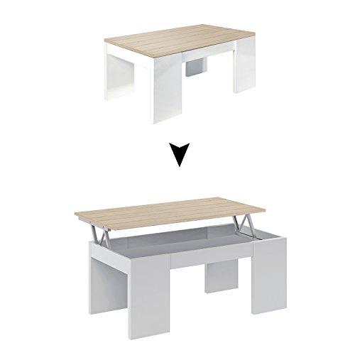 Habitdesign 0F1640A - Mesa de centro elevable