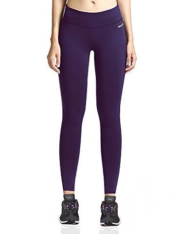 Baleaf Damen Leggings Yoga Lange Enge Yogahose Jogginghose Fitness Gothic Traube Größe M