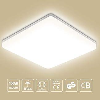 Oeegoo – Plafoniera a LED, 18 W, 1550lm