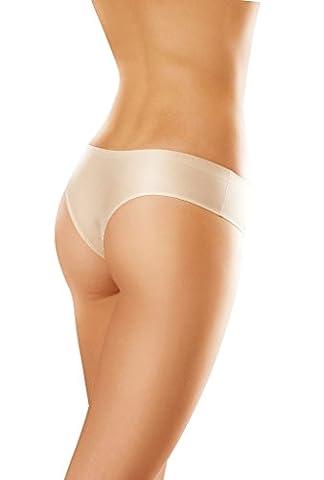 Gatta Brazilian Comfort Slip - Unterwäsche in Laser Cut Technology - Brazil Schnitt Design - 3er Vorteilspack - Größe S (34-36) - Black-schwarz