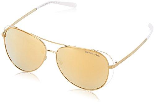 Michael Kors Damen LAI 11927P 58 Sonnenbrille, Pale Gold/White/Liquidgold