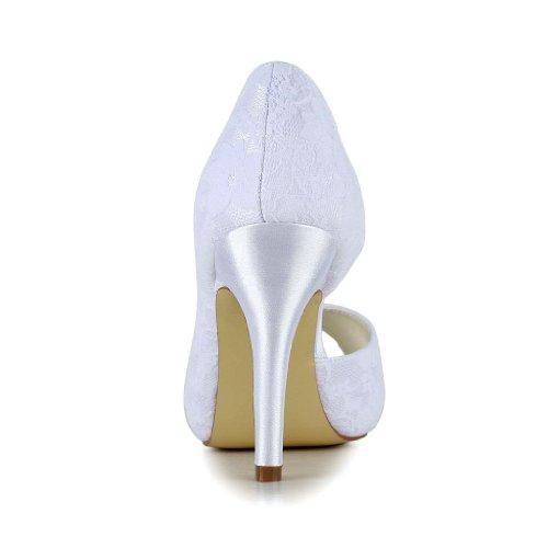 Jia Jia Wedding 37056 chaussures de mariée mariage Escarpins pour femme Blanc